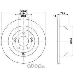 Тормозной диск (Mintex) MDC2245