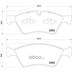 Комплект тормозных колодок, дисковый тормоз (Mintex) MDB2729