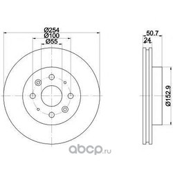 Тормозной диск (Mintex) MDC1749