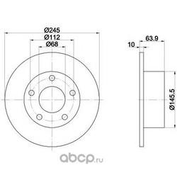 Тормозной диск (Mintex) MDC828