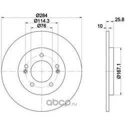 Тормозной диск (Mintex) MDC2484