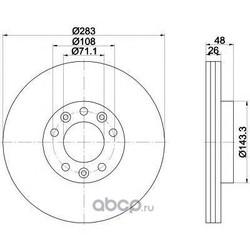 Тормозной диск (Mintex) MDC2278