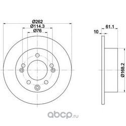 Тормозной диск (Mintex) MDC2055