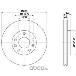 Тормозной диск (Mintex) MDC2195