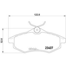 Комплект тормозных колодок, дисковый тормоз (Mintex) MDB2253