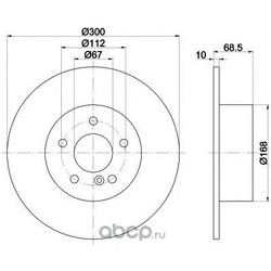 Тормозной диск (Mintex) MDC1633