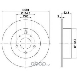 Тормозной диск (Mintex) MDC1906
