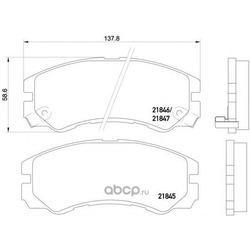Комплект тормозных колодок, дисковый тормоз (Mintex) MDB1685