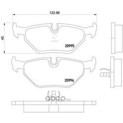 Комплект тормозных колодок, дисковый тормоз (Mintex) MDB1369