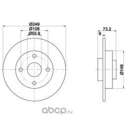 Тормозной диск (Mintex) MDC2031