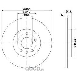 Тормозной диск (Mintex) MDC2003