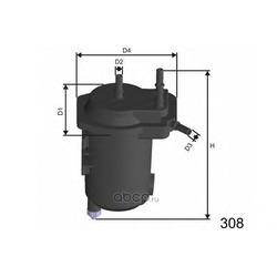 Топливный фильтр (MISFAT) F113