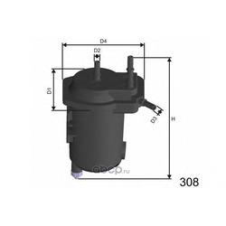 Топливный фильтр (MISFAT) F122