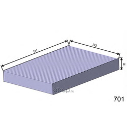 Фильтр, воздух во внутренном пространстве (MISFAT) HB174C