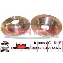 Торм.диск задний не вент. Hyunday Sonata V 05- 284 (NAKAYAMA) Q4600