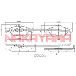 Колодки тормозные дисковые передние FORD FIESTA IV (NAKAYAMA) HP8190NY