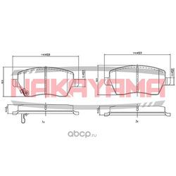 Колодки тормозные дисковые, комплект (NAKAYAMA) HP8221NY