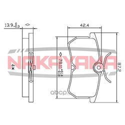 Колодки тормозные дисковые задние FORD FIESTA V 05 (NAKAYAMA) HP8351NY