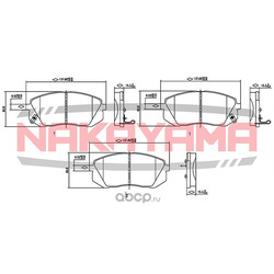 Колодки тормозные дисковые, комплект (NAKAYAMA) HP8362NY