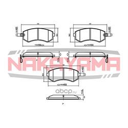 Торм. колодки Nissan Almera (передние) 98- +Abs, P (NAKAYAMA) P0158NY