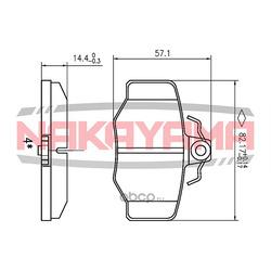 Колодки тормозные, комплект, задние (NAKAYAMA) P0185NY