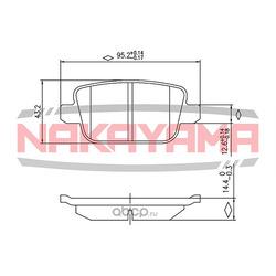 Колодки тормозные дисковые, задние (NAKAYAMA) P0883NY