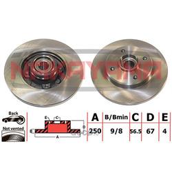 Торм.диск задн. (c подшипником и кольцом ABS) (NAKAYAMA) Q5100