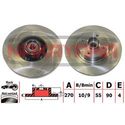 Торм.диск задн. (c подшипником и кольцом ABS) (NAKAYAMA) Q5105