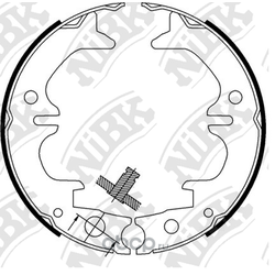 Колодки стояночного тормоза (NiBK) FN0633