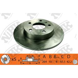 Диск тормозной задний (NiBK) RN1380