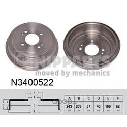 Тормозной барабан (Nipparts) N3400522