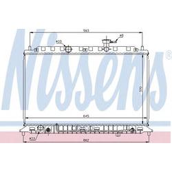 Радиатор, охлаждение двигателя (Nissens) 66687