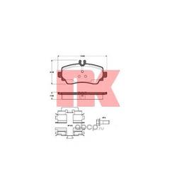 Колодки тормозные, комплект, передние (Nk) 223333