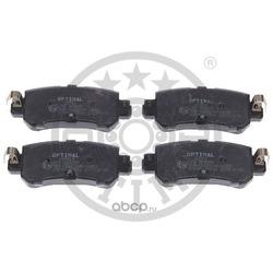 Комплект тормозных колодок, дисковый тормоз (Optimal) 12591