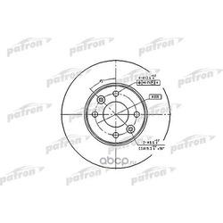 Диск тормозной передн NISSAN: MICRA 03-, MICRA C+C 05-, NOTE 06-, RENAULT: CLIO III 05-, MEGANE II 02-, MEGANE II седан 03-, MODUS 04- (PATRON) PBD4364