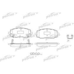 Колодки тормозные дисковые передн KIA: PICANTO 04- (PATRON) PBP1783