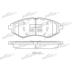 Колодки тормозные дисковые передн CHEVROLET: AVEO седан 05-, KALOS 05-, KALOS седан 05-, DAEWOO: KALOS 02- (PATRON) PBP1699