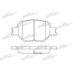 Колодки тормозные дисковые передн TOYOTA: CELICA 99-, COROLLA Verso 02-04, COROLLA Wagon 00-02, COROLLA универсал 02- (PATRON) PBP1528