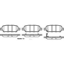Комплект тормозных колодок, дисковый тормоз (Remsa) 087621