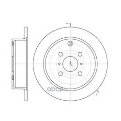 Тормозной диск (Remsa) 680500