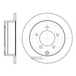 Тормозной диск (Remsa) 6137700