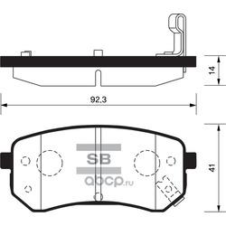 КОЛОДКИ ТОРМОЗНЫЕ ЗАДНИЕ (Sangsin brake) SP1189