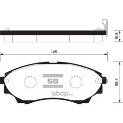 КОЛОДКИ ТОРМОЗНЫЕ ПЕРЕДНИЕ (Sangsin brake) SP1479