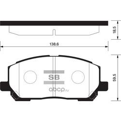 КОЛОДКИ ТОРМОЗНЫЕ ПЕРЕДНИЕ (Sangsin brake) SP1384