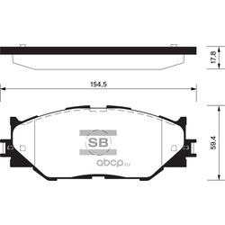 КОЛОДКИ ТОРМОЗНЫЕ ПЕРЕДНИЕ (Sangsin brake) SP1543