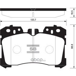 Колодки тормозные передние (Sangsin brake) SP1496