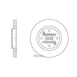 Диск тормозной (Sangsin brake) SD5001