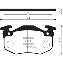 Колодки тормозные задние (Sangsin brake) SP1242
