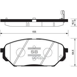 КОЛОДКИ ТОРМОЗНЫЕ ПЕРЕДНИЕ (Sangsin brake) SP1203