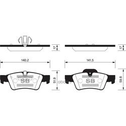 Колодки Mercedes-Benz ML (Sangsin brake) SP2190